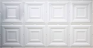 dimensions dotted squares tin style ceiling panel white 24 5 x48