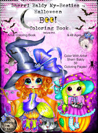 Halloween Coloring Books For Adults by Coloring Books Signed Copies By The Artist Sherri Baldy My