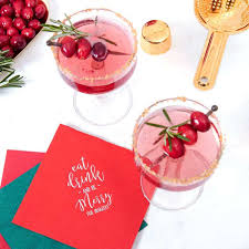 Christmas Napkins Matches Cups And Favors For Your Party