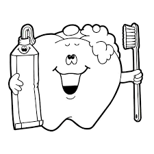 Dental Health Coloring Pictures Rebecca Blog Dentist Exam