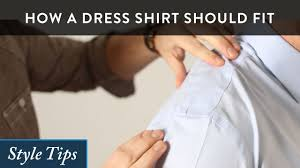 how a dress shirt should fit youtube