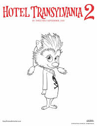 Print Out This Coloring Sheet And Your Child Can Give Winnie The Adorable Werewolf A Bright