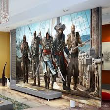 AssassionS Creed Wallpaper Video Game Wall Mural 3d View Photo Room Decor Boys Bedroom Hallway Tv Background Interior Design For