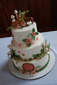 Deer Cake With Cute Woodland Theme And Buttons
