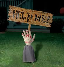 Metal Halloween Yard Stakes by Caution Zombie Crossing Sign By Amscan Halloween Costumes