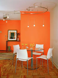 Orange Paint Colors Modern Dining Room Decorating Ideas And Wallpaper