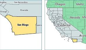 Location Of County On A Map California Outline Printable