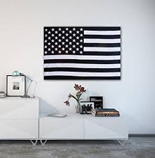 American Flag Tapestry USA Wall Hanging Black And White Twin Decor