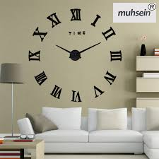 2017New Home Decoration Wall Clock Big Mirror Modern Designlarge Size Clocks