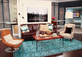 Brown And Teal Living Room Pictures by Bohemian Interior Design With Classic Furniture Set And