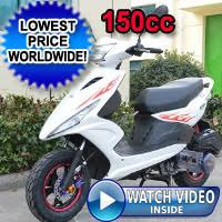 Brand New 150cc Spiral Boom 4 Stroke T 6 Moped Scooter LIST PRICE 147995