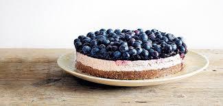 la recette du cheesecake aux myrtilles grazia