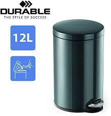 durable treteimer metall 12 liter design abfalleimer für küche büro gastronomie eleganter kosmetikeimer fürs badezimmer mülleimer