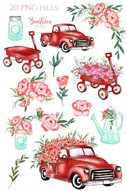 S Planner Stickers Christmas Tree Sign Vintage With Flower Truck Finland