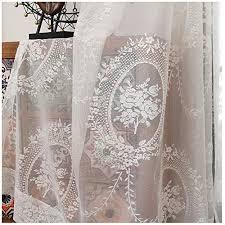 vorhang voile fensterschal dekoschal für wohnzimmer