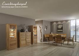esszimmer wohnzimmer tischgruppe eckbank vitrine kernbuche massiv geölt lanatura