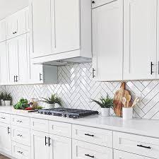 White Kitchen Tiles Ideas Basic White 4x12 Polished Ceramic Wall Tile Kitchen Design