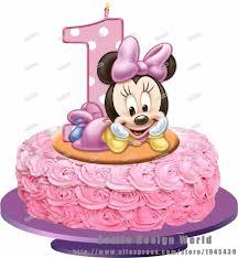 bébé minnie mouse comestibles gâteau topper plaquette riz papier