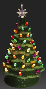 Colored Bulbs For Ceramic Christmas Tree amazon com relive christmas is forever lighted tabletop ceramic