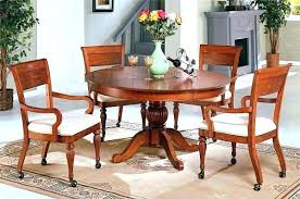 Dining Room Chairs With Casters Kitchen Chair With Rollers Kitchen