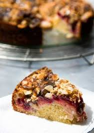 Spiced Plum Cake With Toffee Glaze