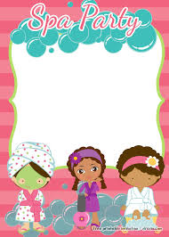 Kids Pamper Party Invitations Best Of Free Printable Spa Invitation Templates Pinterest