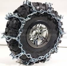 100 Snow Chains For Trucks 2 HD Fit AX12021 Axial BF Goodrich Krawler 22 Tires