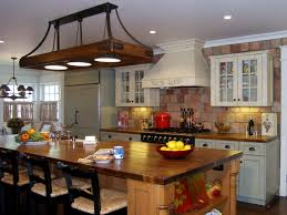 kitchen ceiling lights wooden kitchen island backsplash
