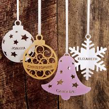 Christmas Tree Names by Personalised Christmas Tree Decoration Laser Cut Acrylic Laser