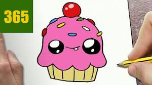 Cute Cupcake Drawing How To Draw A Cupcake Cute Easy Stepstep Drawing Lessons For