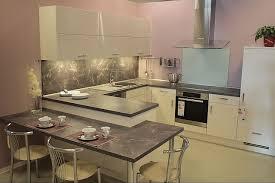 primo magnolia hochglanz hochwertige u küche mit essplatz miele geräten