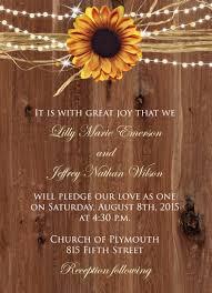 Wedding Sunflower Invite 2