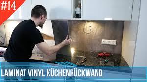 küchenrückwand aus laminat oder vinyl herstellen spritzschutz küche backsplash diy