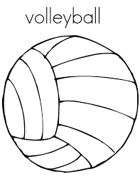 Coloring A Volleyball Picture Page