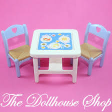 100 Playskool Plastic Table And Chairs Fisher Price Loving Family Dream Dollhouse White Flip Dining