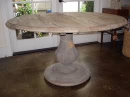 Reclaimed Wood Round Kitchen Table On Regarding Verona Rustic Dining With Fluted 8
