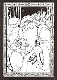 Spirits Of Christmas Stained Glass Coloring Book