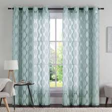 Bed Bath And Beyond Red Sheer Curtains by Buy Vcny Aria 84 Inch Window Curtain Panel In Aqua From Bed Bath