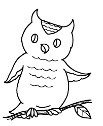 Cute Printable Owl Coloring Pages For Kids
