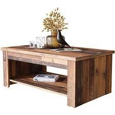 newfurn couchtisch betonoptik dunkelgrau wood wohnzimmertisch vintage industrial 110x45 7x65 cm bxhxt landhausstil sofatisch tisch