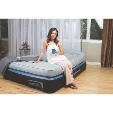 aerobed opti comfort queen air mattress with headboard