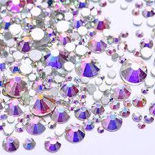 100 Ab Flat Amazoncom 3124pcs Nail Art Rhinestones Crystal AB Back