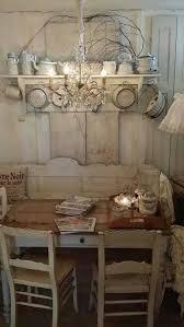 rustikale küche in vintage stil ganz in weiß sehr stilvoll