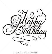 Happy Birthday Calligraphy Design Elements
