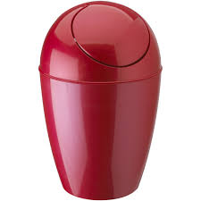Bathroom Wastebasket With Lid by Umbra Plastic Trash Can With Lid Red In Kitchen Trash Cans