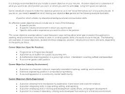 Objective It Resume Statement Examples For Information Technology Combined With Example To Produce Stunning