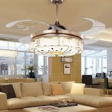 colorled invisible ceiling fans living room remote control fan