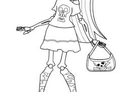 Tattoo Monster High Skelita Coloring Pages
