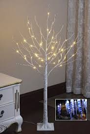 Buy Lightshare NEW 4FT 48L LED Birch Tree Free Gift10L Icicle Twinklingwhite BlueDecoration Light Home Festival Party Christmas Indoor And Outdoor
