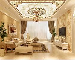 nach maß große europäische luxus metall muster decke tapete tapete wohnzimmer hotel decke wandbild beibehang
